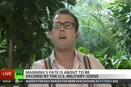 Эфир телеканала Russia Today был прерван выступлением американского журналиста, который защищал права геев