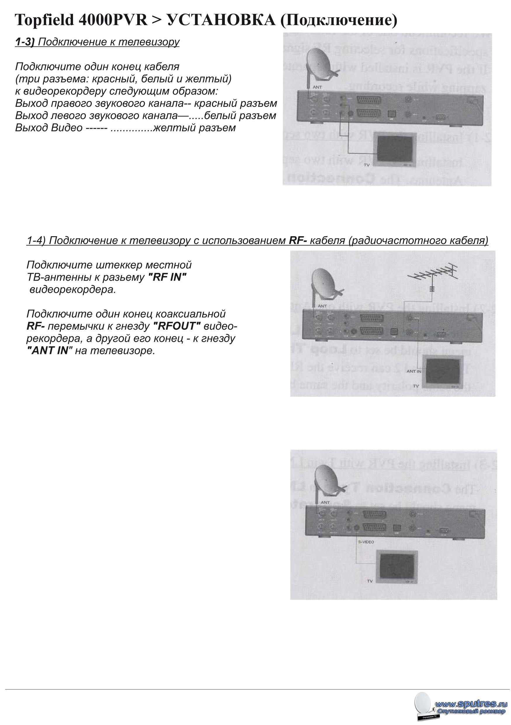 ресивер topfield tf4000fi инструкция