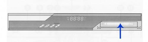 Справа на передней панели ресивера GS DRE-7300
