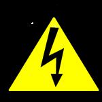 Треугольник с молнией внутри