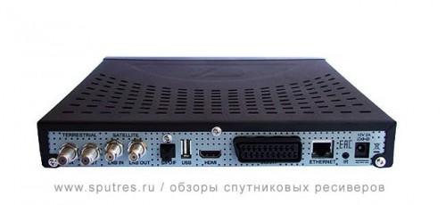Спутниковый ресивер GS E212, вид сзади