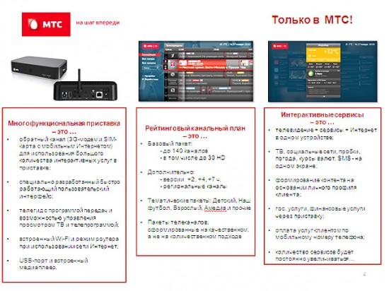 Предложение «Спутникового ТВ МТС»