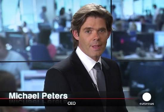 Майкл Петерс(Michael Peters), занимающий пост исполнительного директора «Euronews»