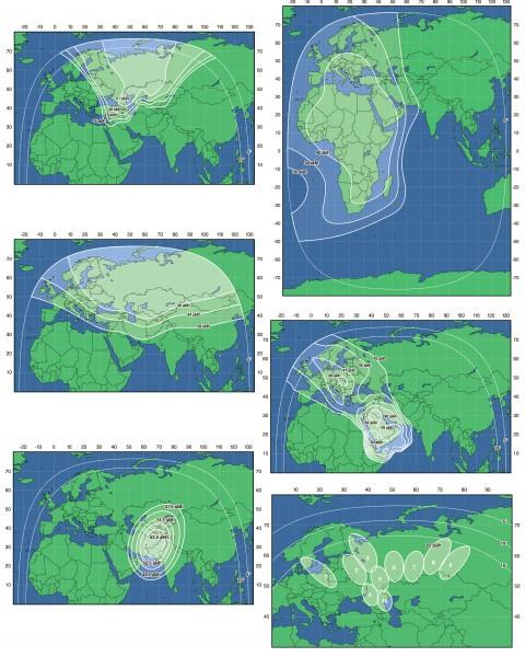 «Экспресс-АМ6» является спутником тяжелого класса. Его сигнал должен покрыть территорию России, Африки, Азии и Ближнего Востока