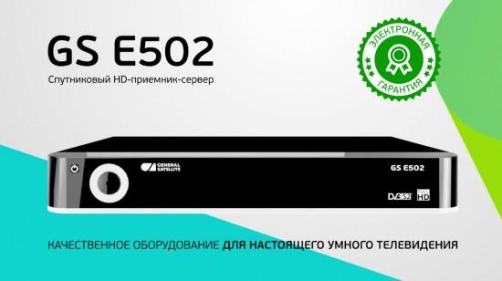 GS E502 электронная гарантия сроком на 12 месяцев;