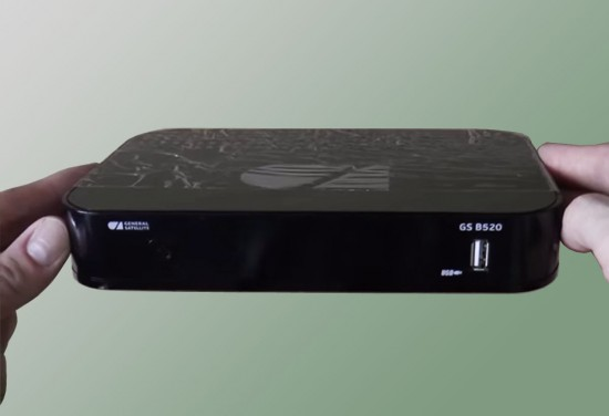 Передняя панель - Обзор спутникового ресивера GS B520
