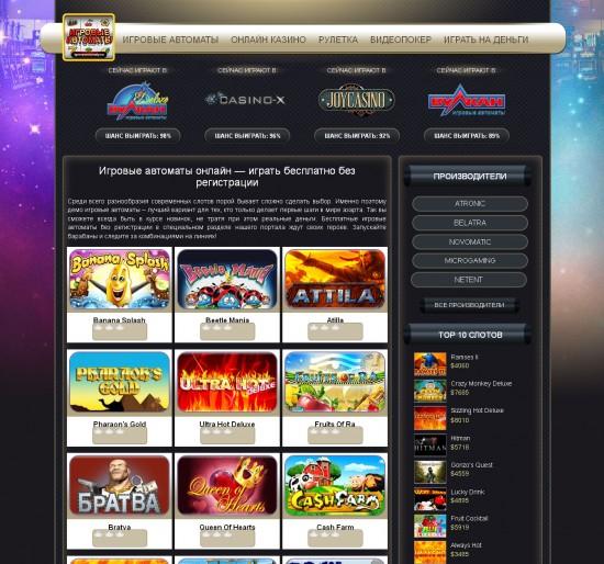 Зацени реальные игровые автоматы, на реальные деньги в интернет казино