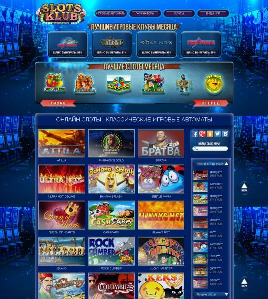 Онлайн слоты - классические игровые автоматы
