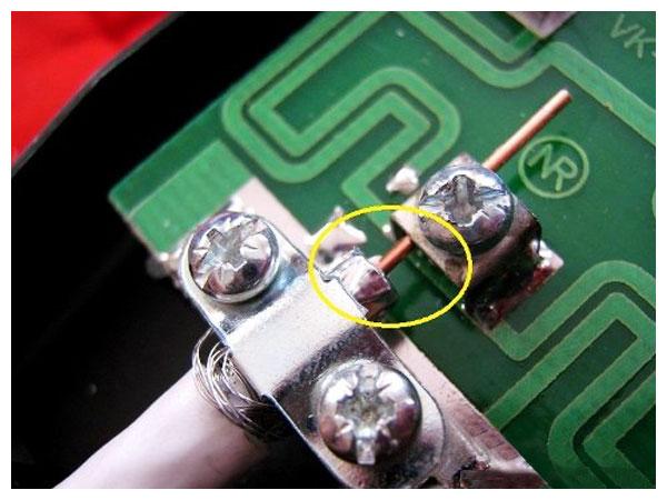 Подключение антенного кабеля к антенне