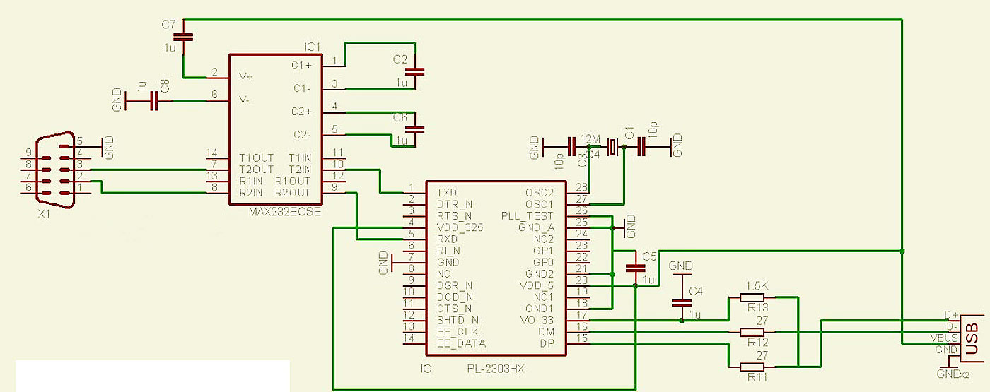 Схема распайки компьютерного порта USB  ЮИЗБИ схема