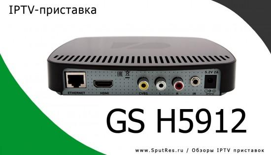 Задняя панель IPTV-приставки GS H5912