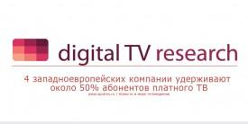 4 западноевропейских компании удерживают около 50% абонентов платного ТВ