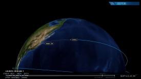 Falcon 9 была запущена по штатному расписанию, 14 января, в 20:54 по мск. Все прошло удачно, и уже через 8 минут первая ступень вернулась на плавучую платформу, которая находится в Тихом океане.