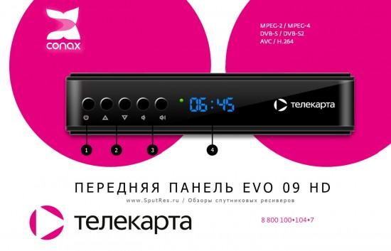 Передняя панель EVO 09 HD Телекарта