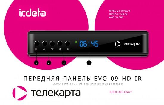 Передняя панель EVO 09 HD IR