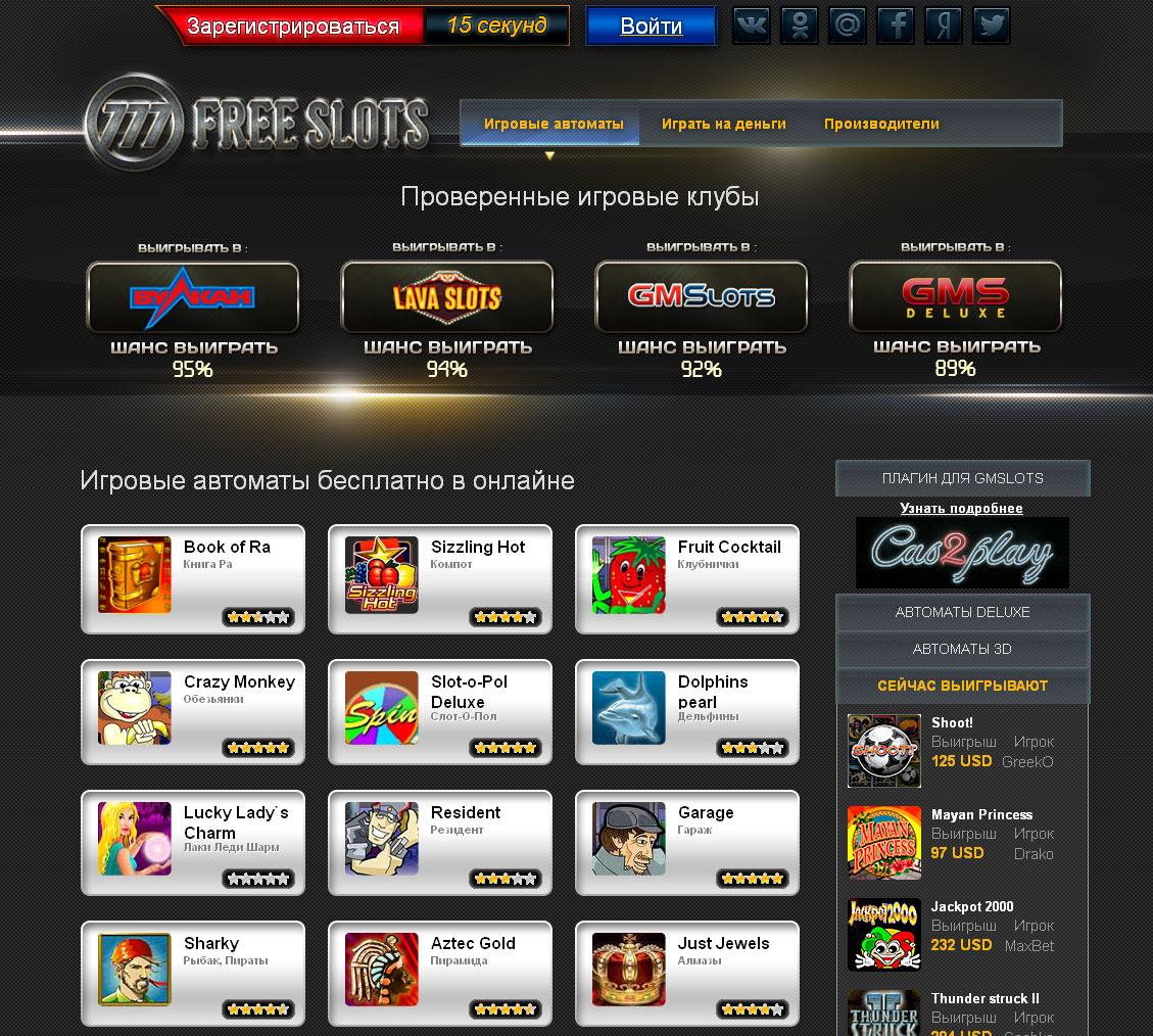 Игровые автоматы бесплатно в онлайне