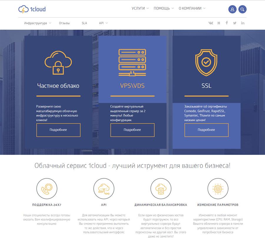 1cloud – облачный сервис для вашего бизнеса