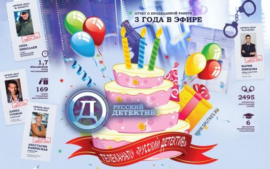 Телеканалу «Русский детектив» исполняется 3 года